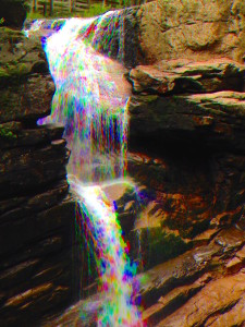 waterfall at the flume!